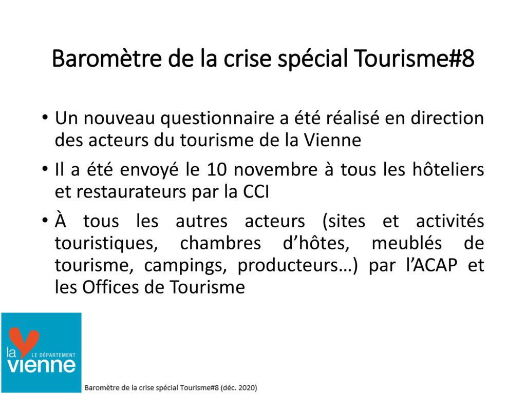 Baromètre crise covid tourisme - 2020