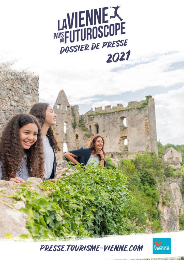 Couverture dossier de presse tourisme en Vienne 2021